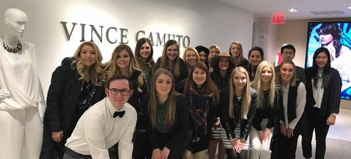 AMDT students in the Vince Camuto office