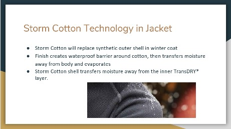 """substitution of cotton Presentation"""